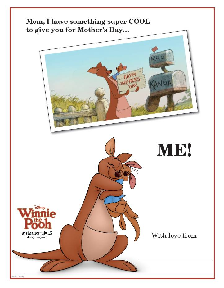 Winnie The Pooh – Mother's Day Card