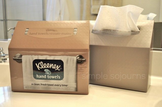 Kleenex Hand Towels Guest Ready Bathroom Simple Sojourns