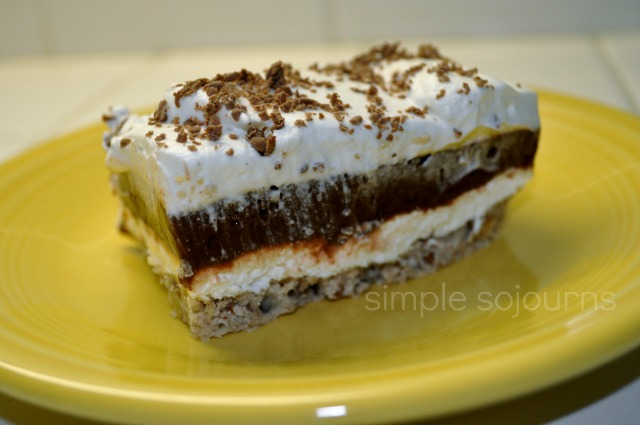 Four Layer Pudding and Cream Cheese Dessert Recipe - Simple Sojourns