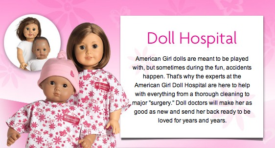 how to send american girl doll to hospital | How to love girl