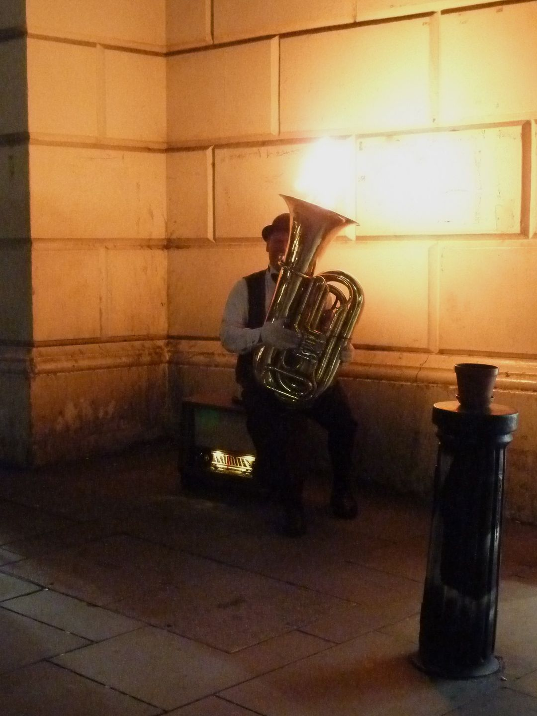 Wordless Wednesday – London Fire Blowing Tuba