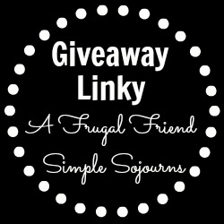 Tuesday Blog Giveaway Linky with Simple Sojourns & A Frugal Friend