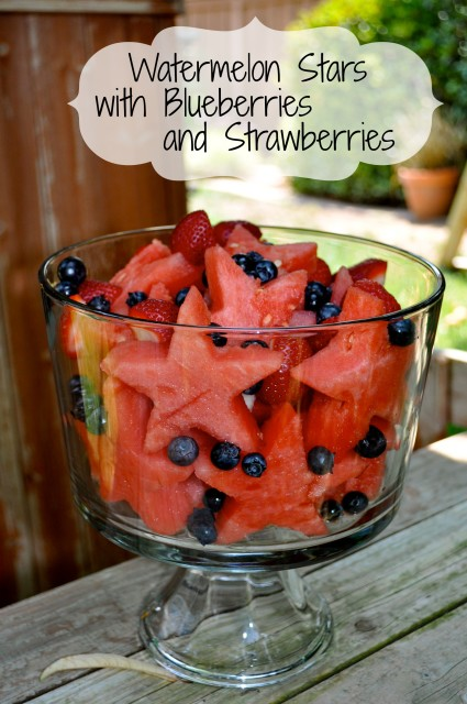 Watermelon stars with berries simple sojourns