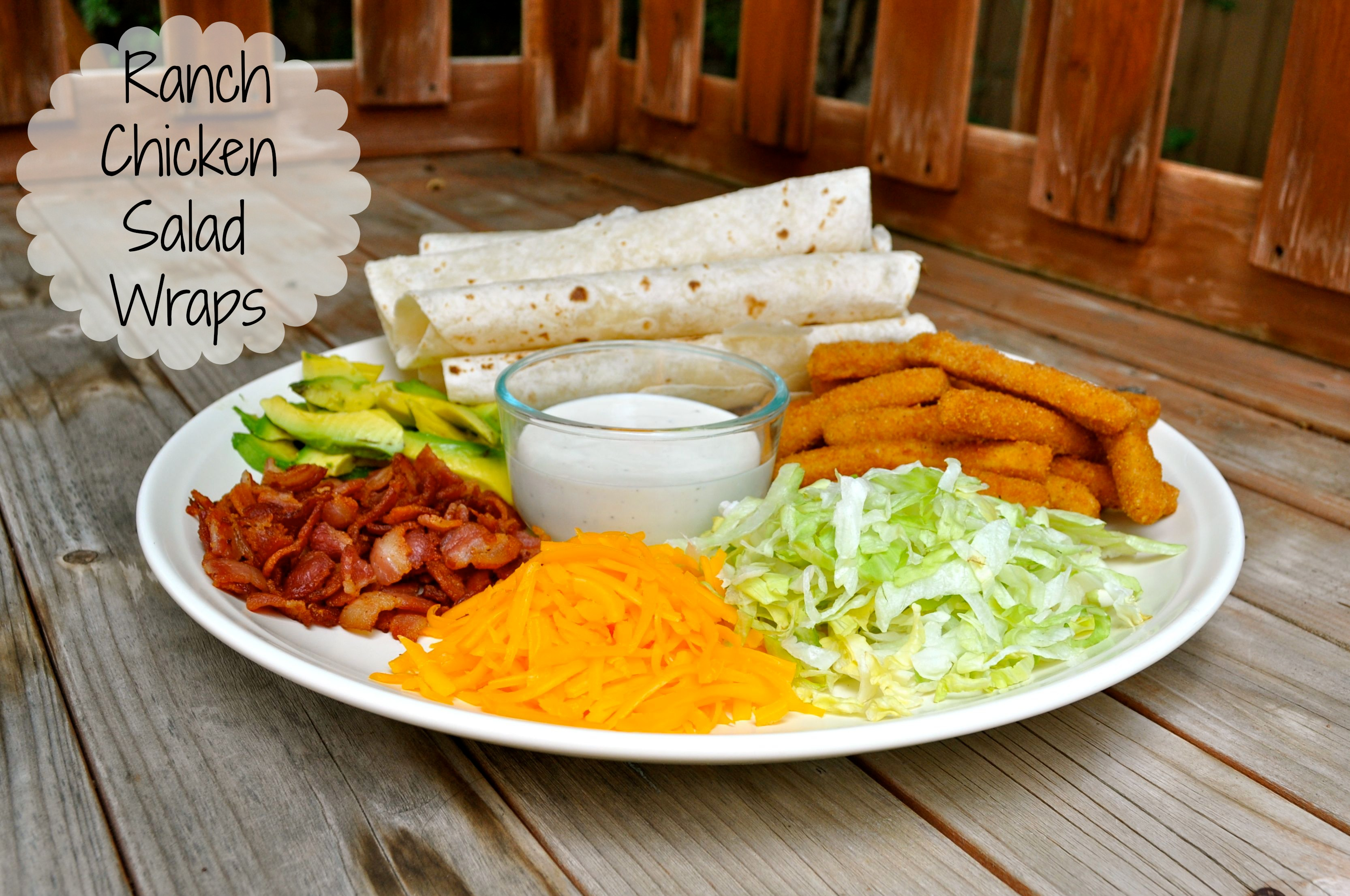 Ranch Chicken Salad Wraps - Simple Sojourns - Simple Sojourns