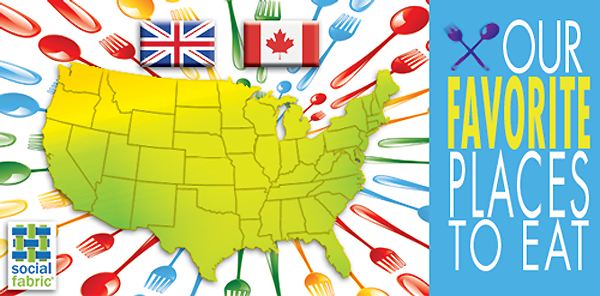 Favorite Places To Eat – USA, Canada and the United Kingdom