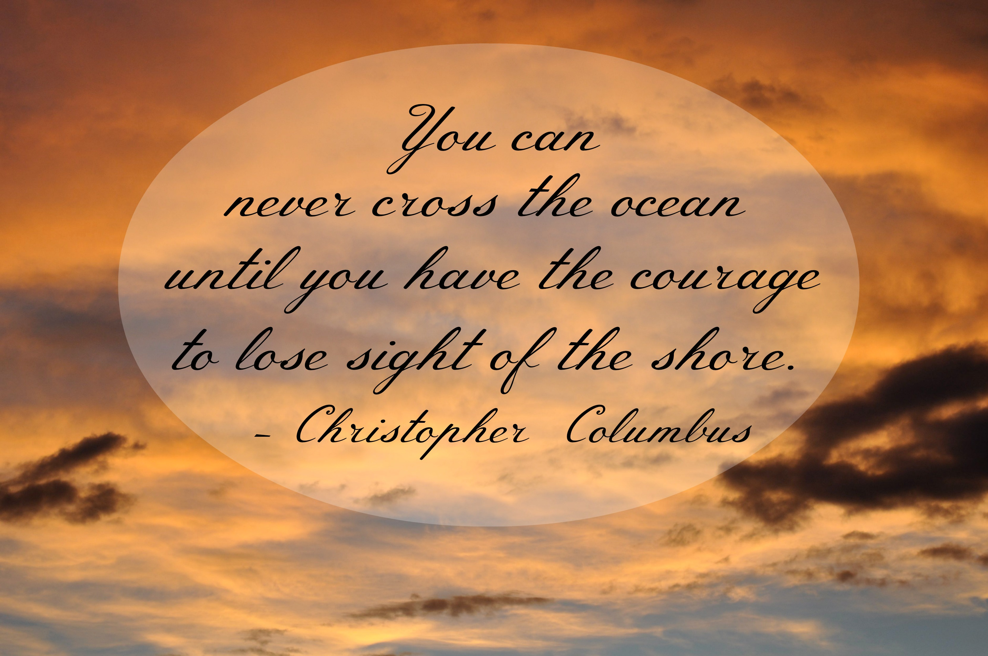 You can never cross the ocean Printable