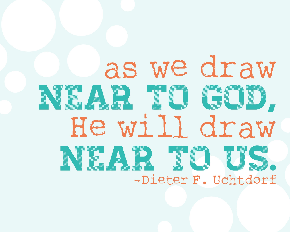 As we draw near to God