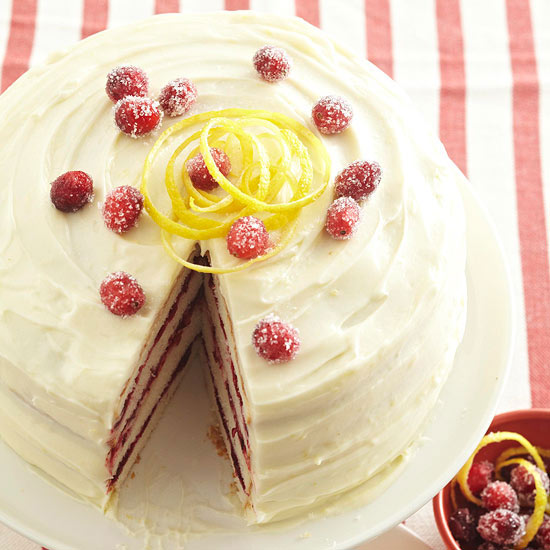 Cranberry-Vanilla Bean Cake with Lemon Cream Cheese Frosting - Simple ...