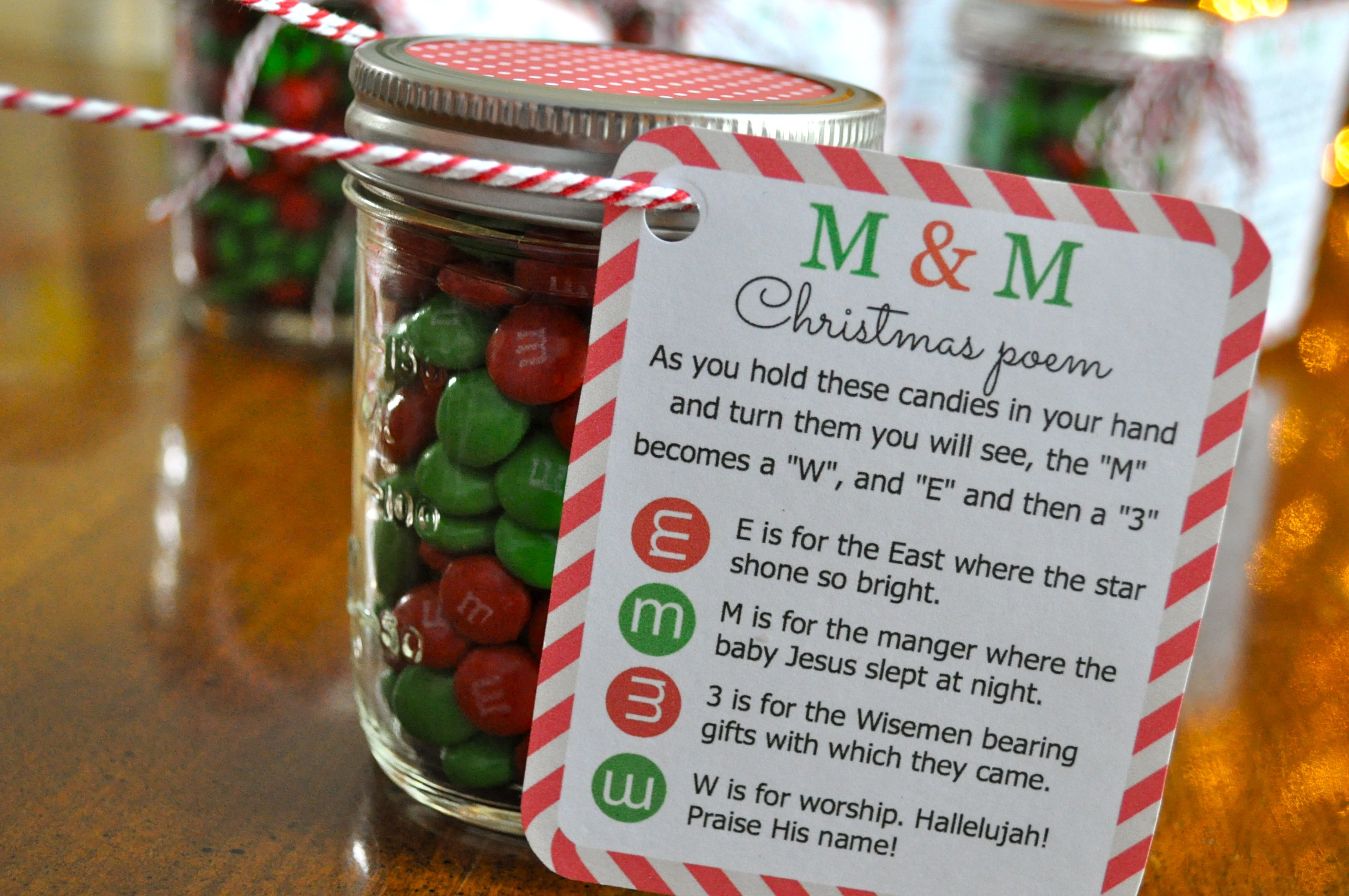Christmas Poem Candy Jar String - Simple Sojourns - Simple ...
