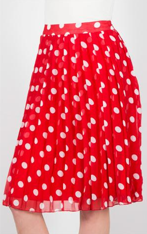Shabby Apple Red Polka Dot Skirt