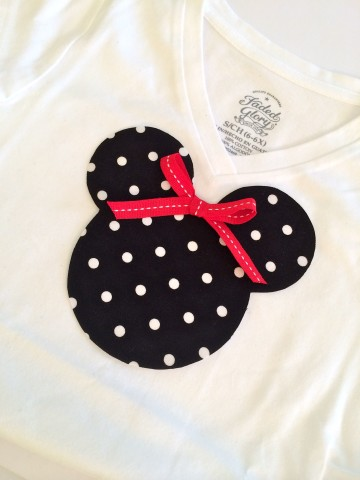 Minnie Mouse Applique Tee Shirt - Simple Sojourns