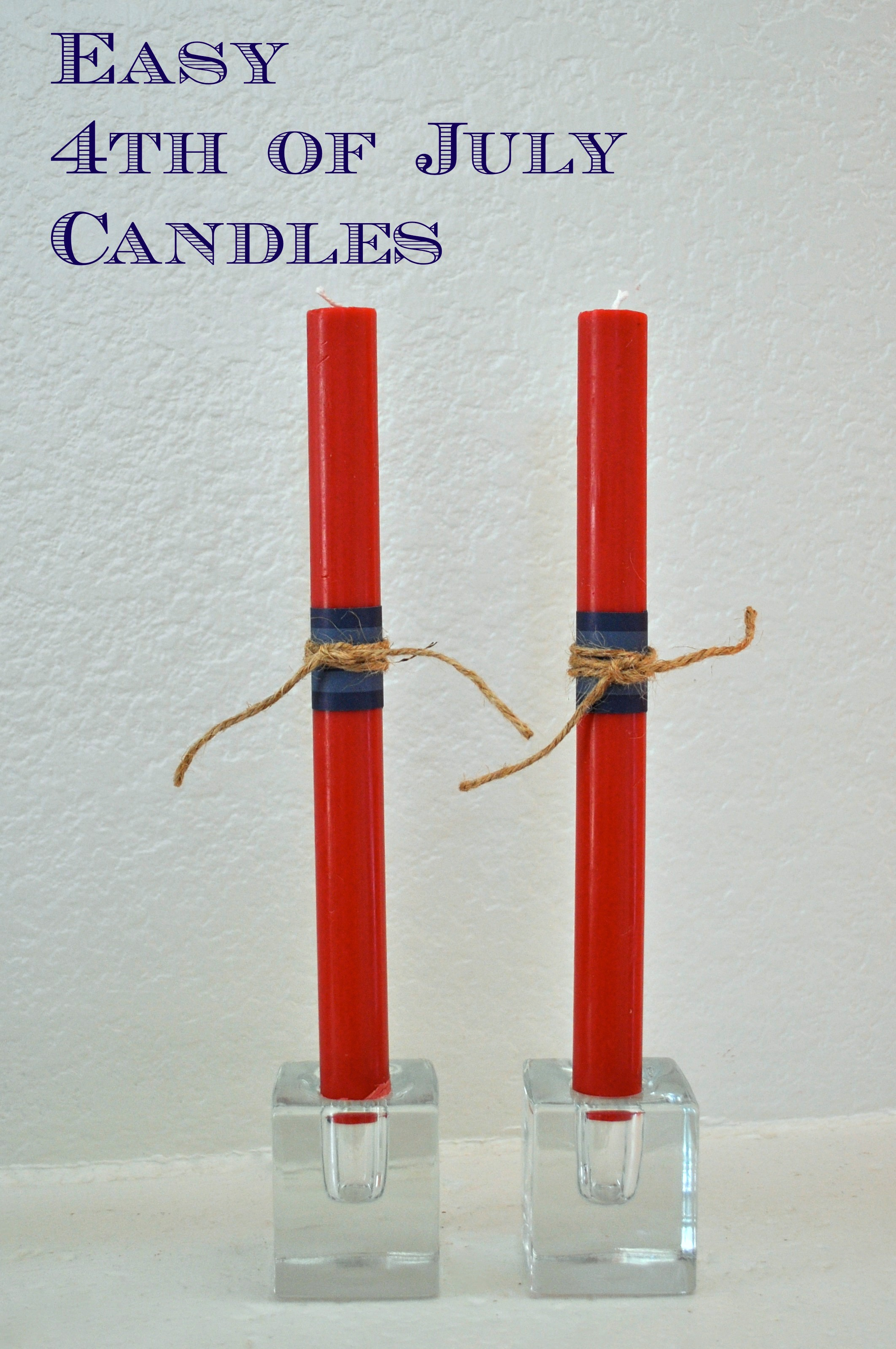 Easy DIY 4th of July Patriotic Candles