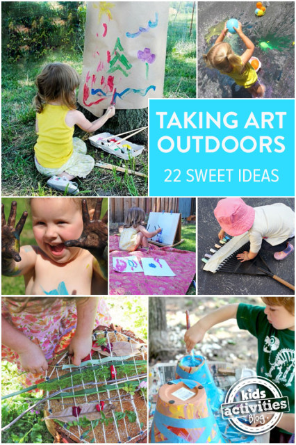 Kids Activity Blog Taking Art Outdoors