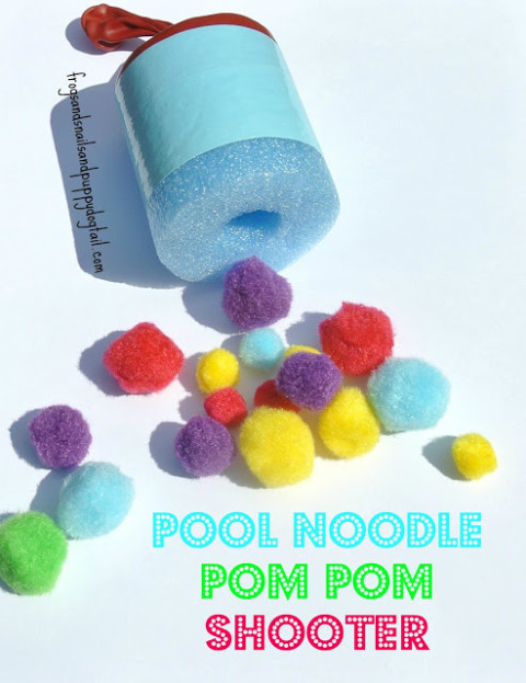 Pool Noodle Pom Pom Shooter