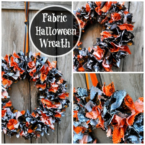Easy Halloween Wreath Collage - Simple Sojourns
