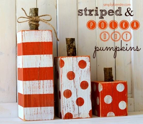 Striped & Polka Dot Pumpkins