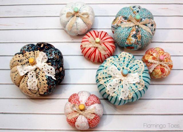 Colorful Fall Fabric Pumpkins