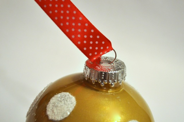 Hand Painted Gold Ornament Ribbon - Simple Sojourns