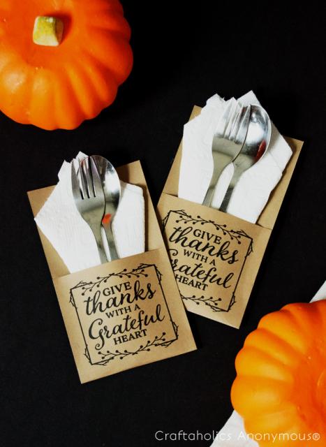 Thanksgiving Flateware Holder