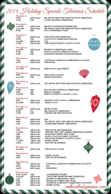 2014 Holiday Specials TV