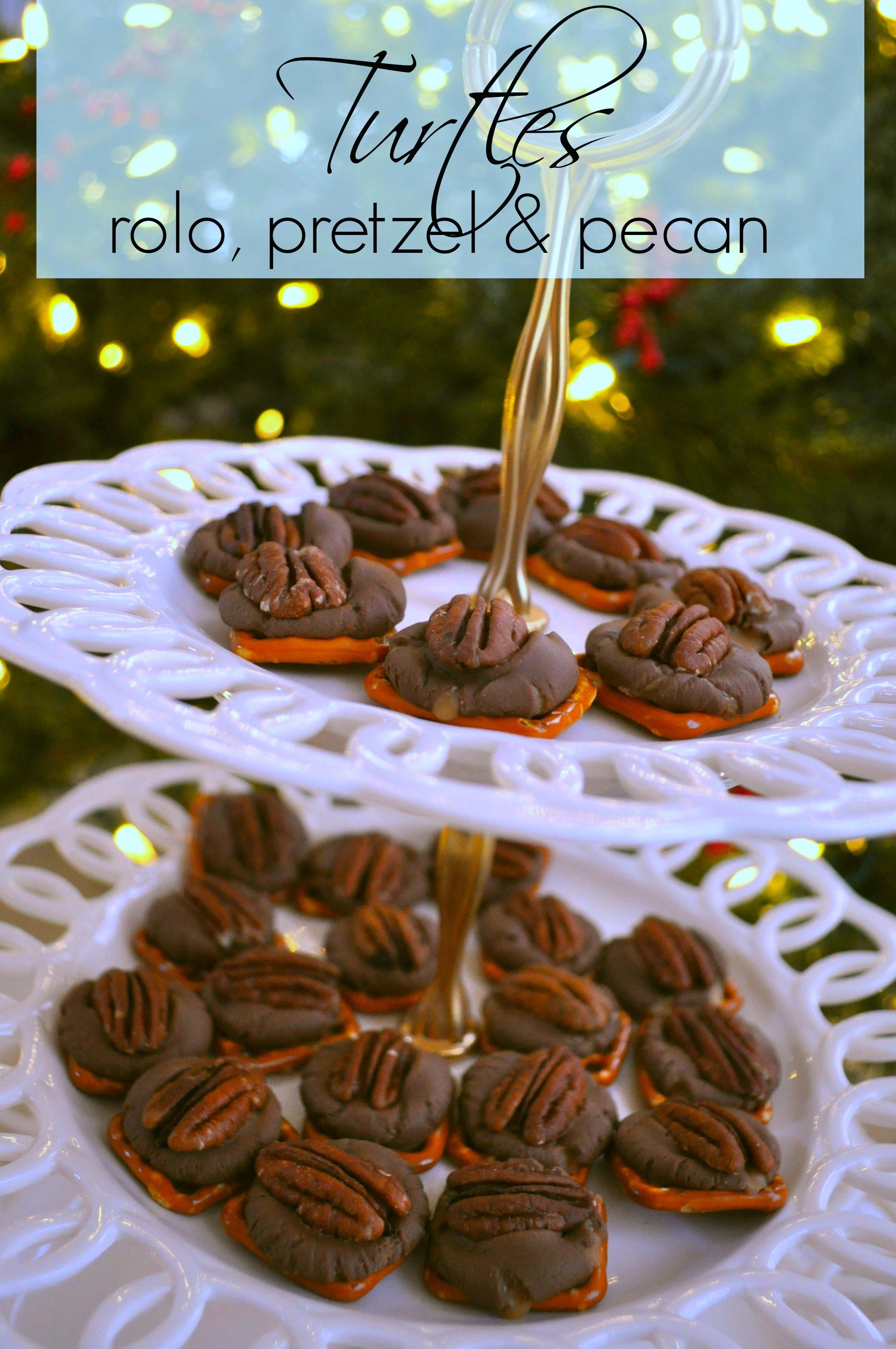Rolo Pretzel Turtles Recipe. These are super addictive! I have also ...