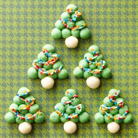 Snowball Christmas Tree Cookies