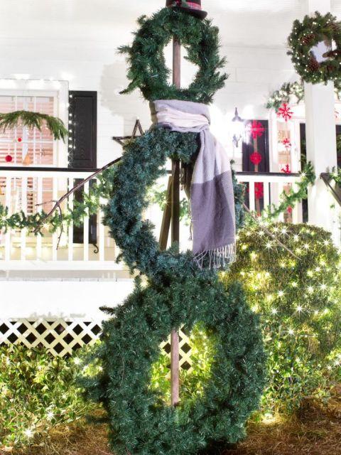 Three Wreath Snowman