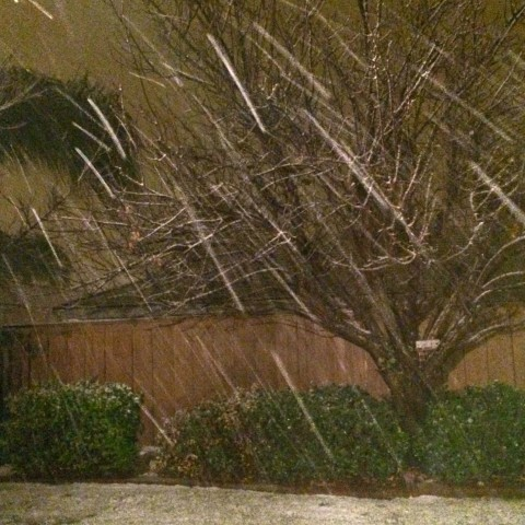 The beginning of the Wildomar Snow - Simple Sojourns