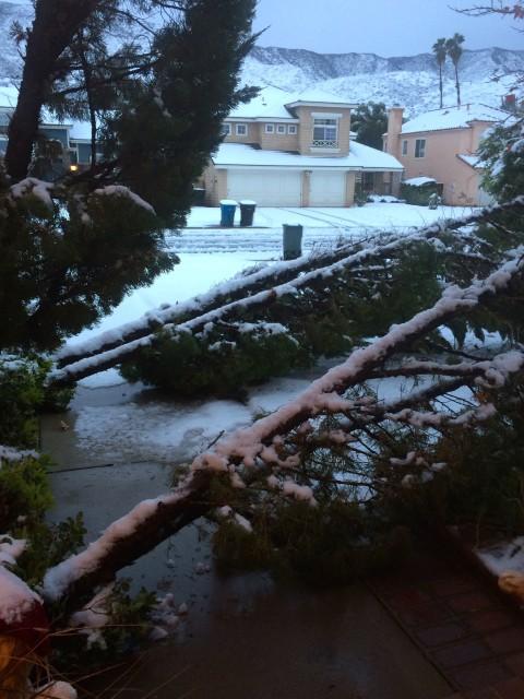Wildomar Snow Front Door Damage - Simple Sojourns
