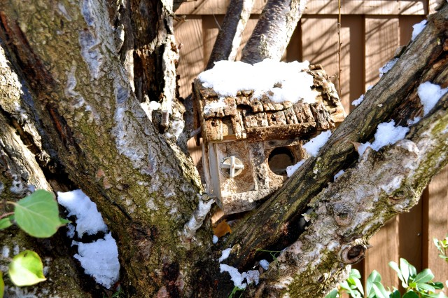 Wildomar snowy bird house - Simple Sojourns