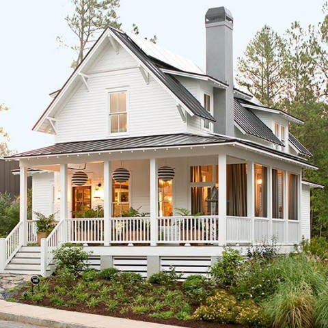 Simple Wrap Around Porch