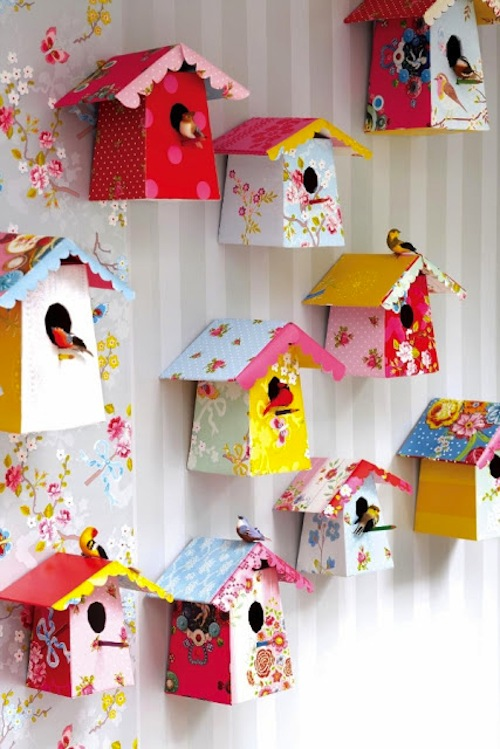 Diy Paper Birdhouses With Templates Jpg