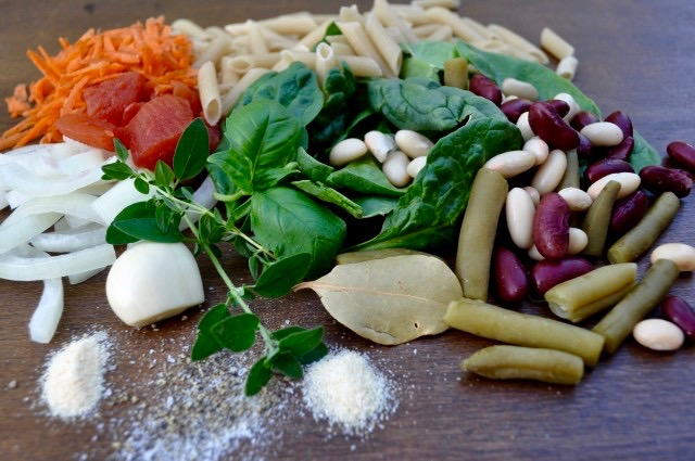 Gluten Free Minestrone Soup Ingredients - Simple Sojourns