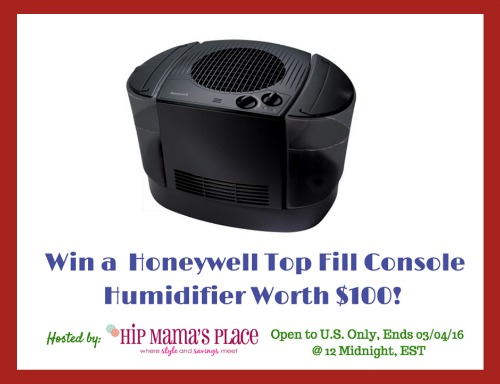 Honeywell Top Fill Console Humidifier Giveaway!