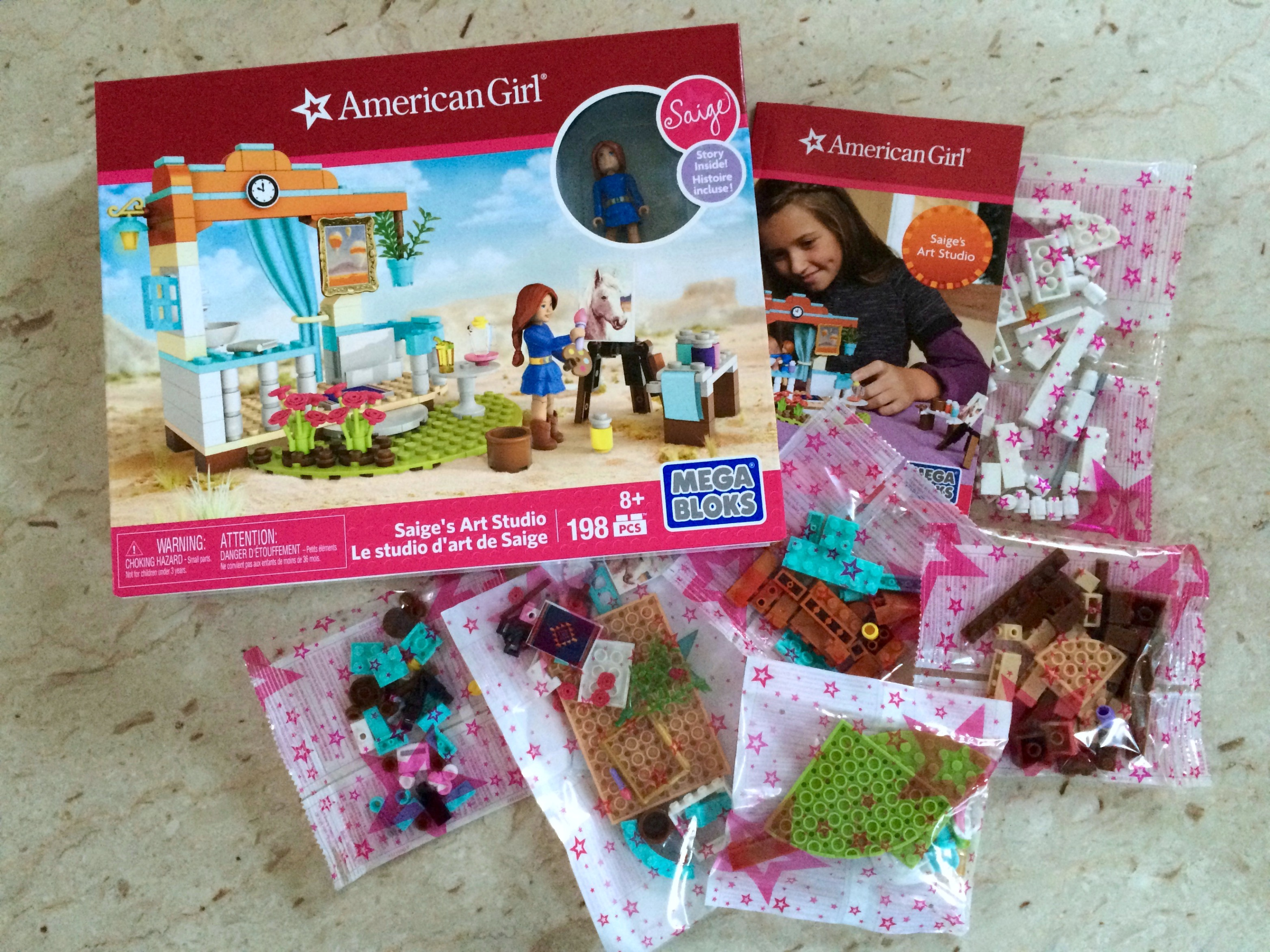 American Girl Saige's Art Studio with Mega Bloks