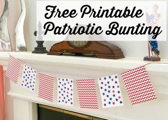 Printable Patriotic Bunting