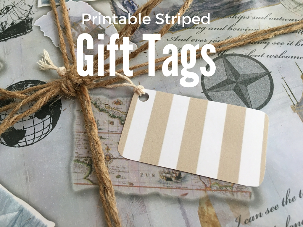 Printable Striped Gift Tags