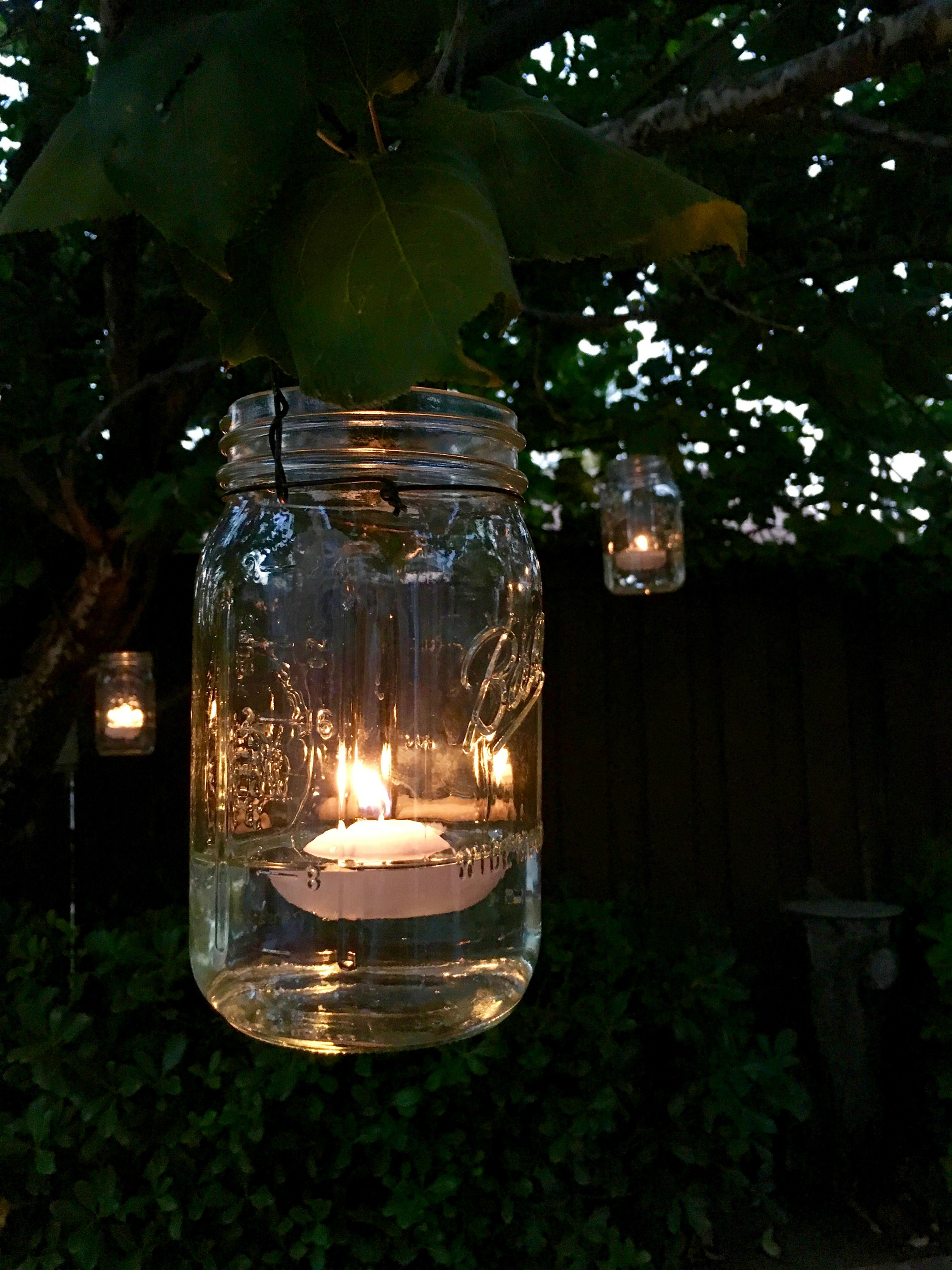 Hanging Mason Jar Candle Lights Simple Sojourns