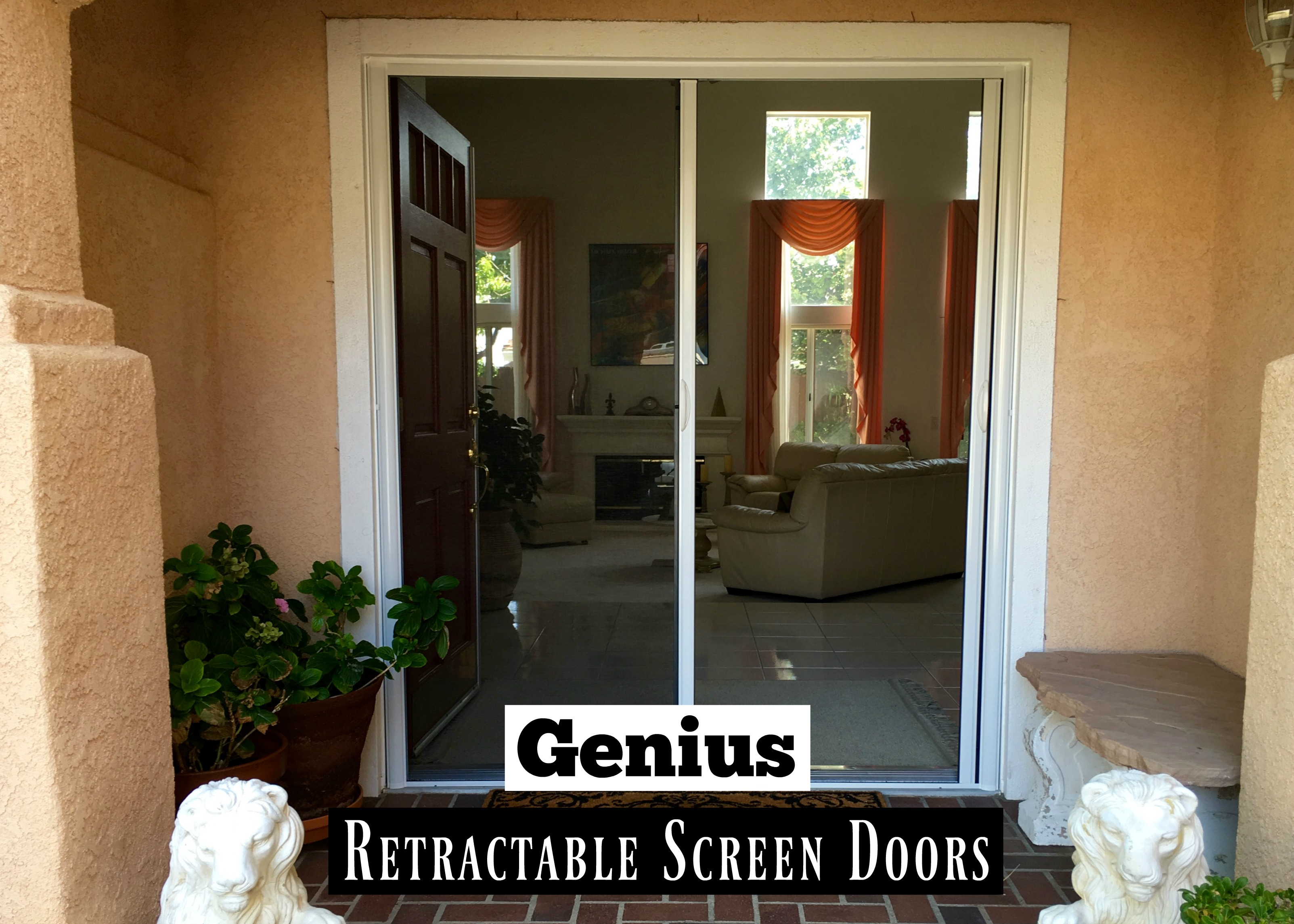 Let the fresh air in with genius retractable screen doors for Genius retractable screen