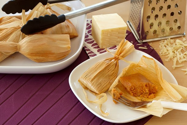 Cheesy Sun-Dried Tomato Tamales