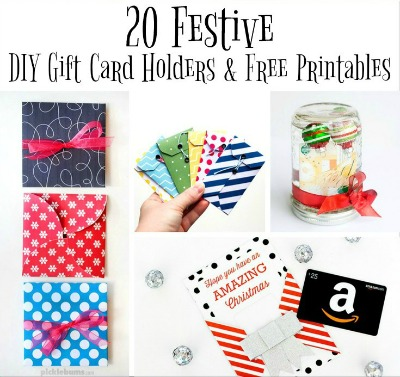 DIY Gift Card Holders and Free Printables