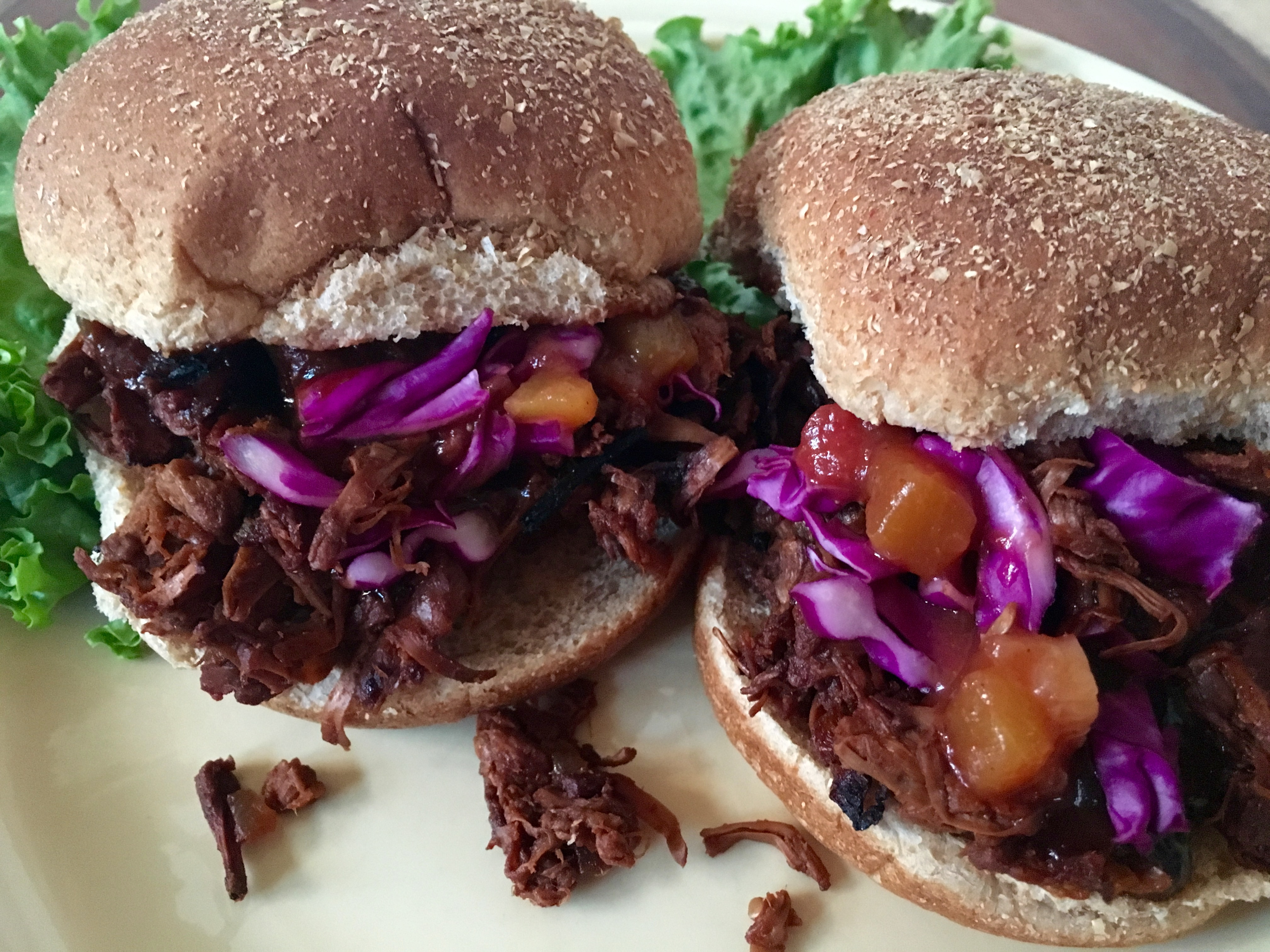BBQ Pulled Jackfruit Sliders