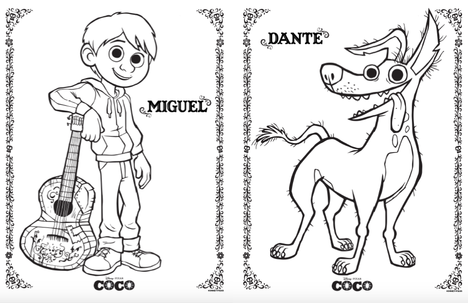Disney Pixar Coco Coloring And Activity Pages Simple